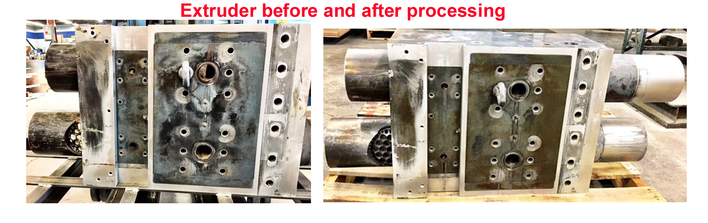 Extruder Before and After processing