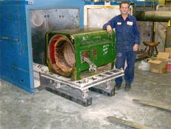 Cleaning 300 HP Electric Motor with Burn OFF Oven