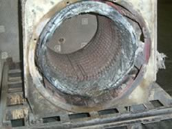 Electric Motor Coils shown after Burn OFF Oven use