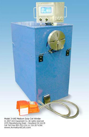 model 3-VAS & 3-VPAS medium duty coil winder