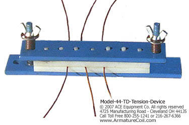 Tension control for round wire