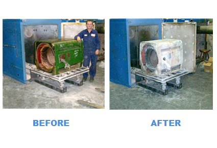 Electric Motors Before and After Cleaning