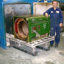 Motor Entering Oven